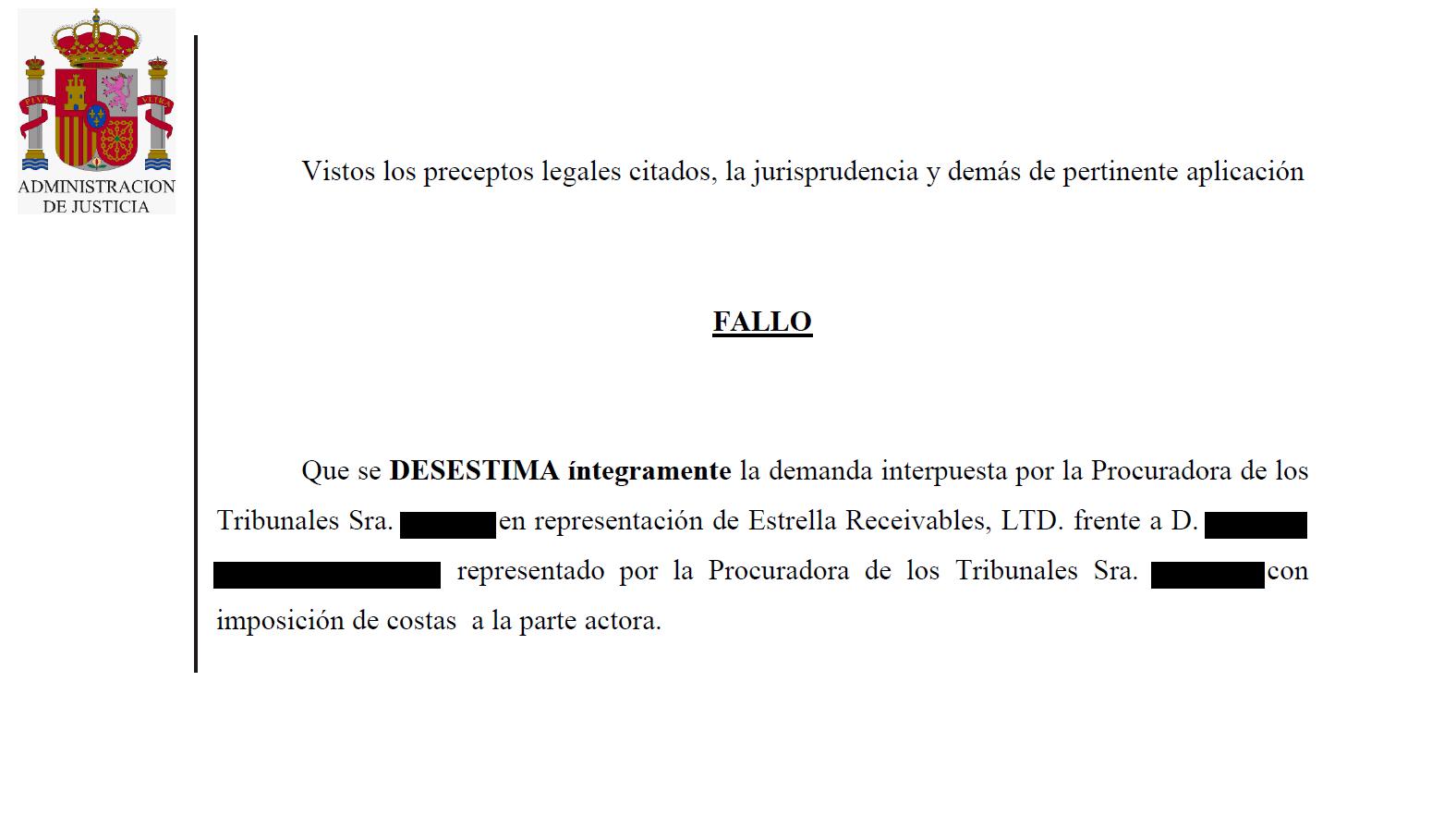 FALLO SENTENCIA CONTRA FONDO BUITRE